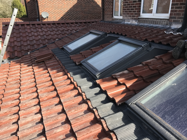 full new tiled roof with velux windows fitted Methley