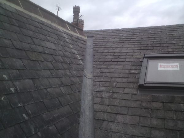 new lead valley on slate roof in leeds
