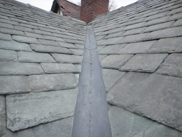 new lead valley on westmorland slates on old coachhouse wakefield